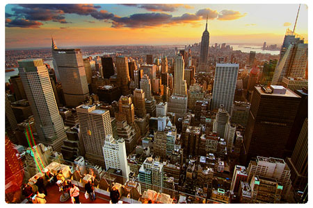 New York - Panorama al tramonto